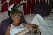 мужчины и женщины мартышка и обезьян-капуцинов